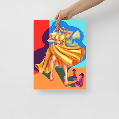 Glowing & Flowing - 12x16 Poster