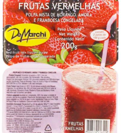Polpa de Frutas Vermelhas - 1Kg.
