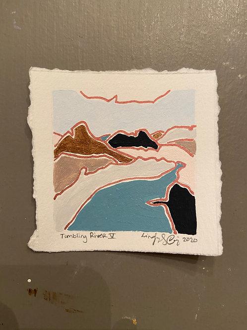 """""""Tumbling River"""" Tiny Landscape"""