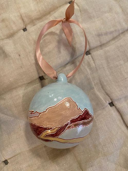 """Festive Rose"" Holiday Ornament"