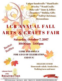 LCR 2017 Fall Craft Fair Flyer