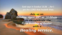 Healing service April 29 2018
