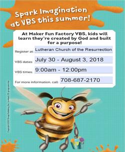 2018 VBS flyer