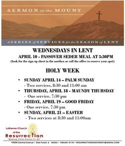 lent & Easter schedule rev