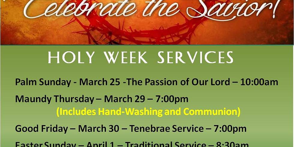 Holy Week At LCR