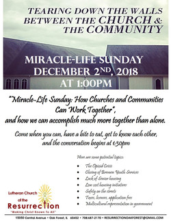 Miracle Life Sunday Flyer
