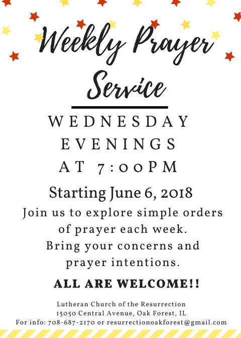 Weekly Prayer Service