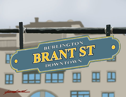 Brant St. Burlington Print