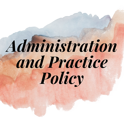 LMSW/LCSW Administration and Practice Policy (mini session)