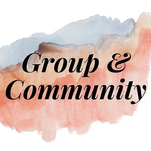 LMSW/LCSW Group & Community (mini session)