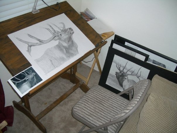 My _Art Studio_...the living room.