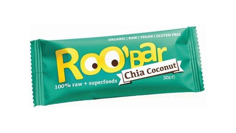 Barre chia/noix de coco - Roo'bar -30 gr -