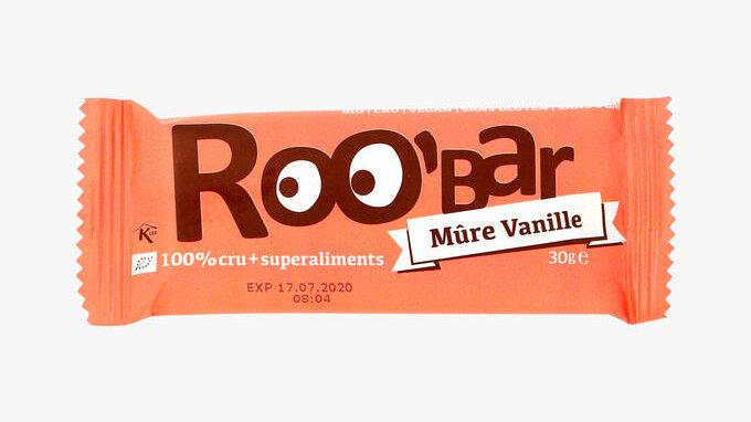 Barre mûre/vanille - Roo bar - 30 gr.