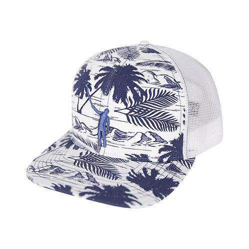 NLU - NLU Tropical Puff Hat | Blue & White Mesh