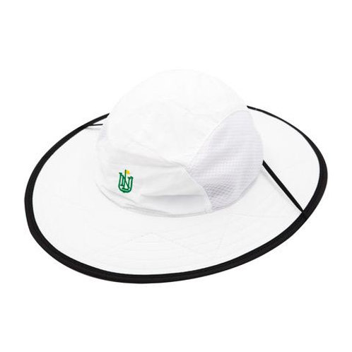 NLU Big Bucket   White w/ Black Brim