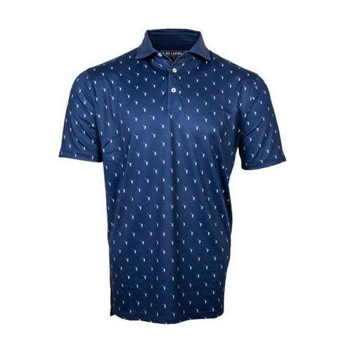 NLU Performance Polo | Blue Wayward Drive Multiprint