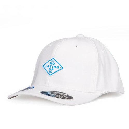 NLU - Light Blue Retro Diamond Patch Hat | White FlexFit