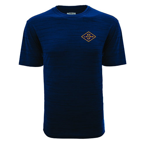 NLU -Performance T-shirt | Heather Navy w/ Navy & Gold Diamond logo