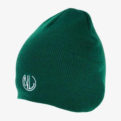 NLU Cuffless Beanie   Green w/ Monogram