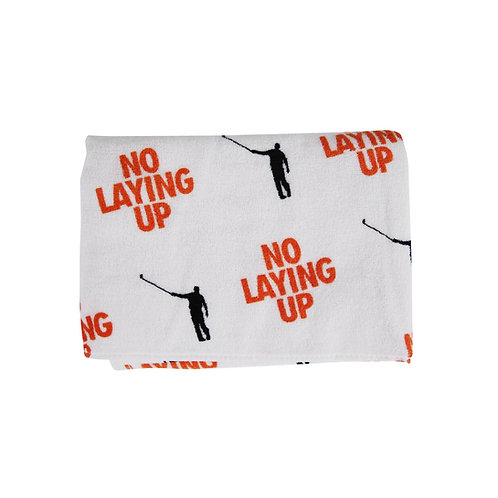 No Laying Up Towel | Orange & Black