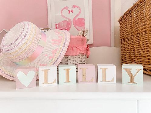 Wooden Letter Nursery Blocks