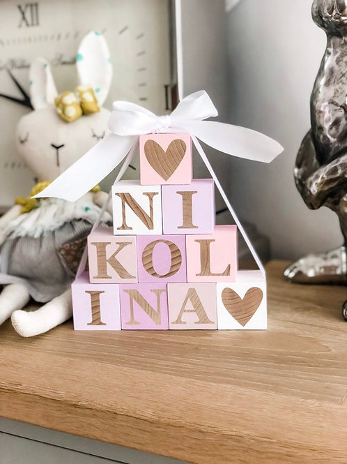 Wooden Letter Nursery Blocks