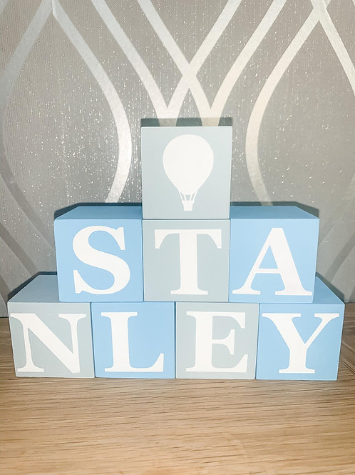 White Letter Nursery Blocks