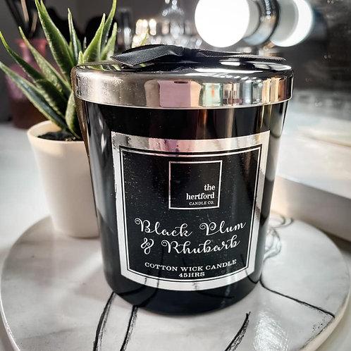 BLACK PLUM & RHUBARB COTTON WICK CANDLE