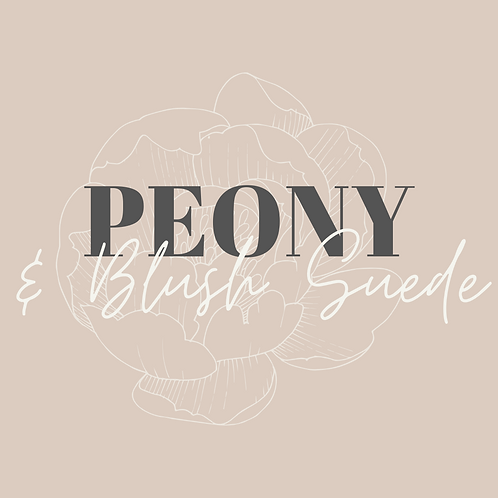 Peony & Blush Suede Collection