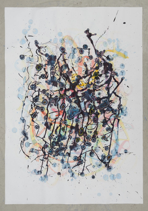 janine mannheim mixed media painting_ink