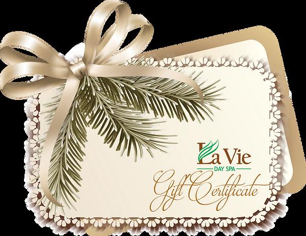 La Vie Gift Certificate