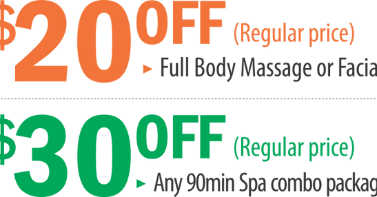 Sale, massage spa, deep tisue massage, swedish massage, facial, la vie, la jolla