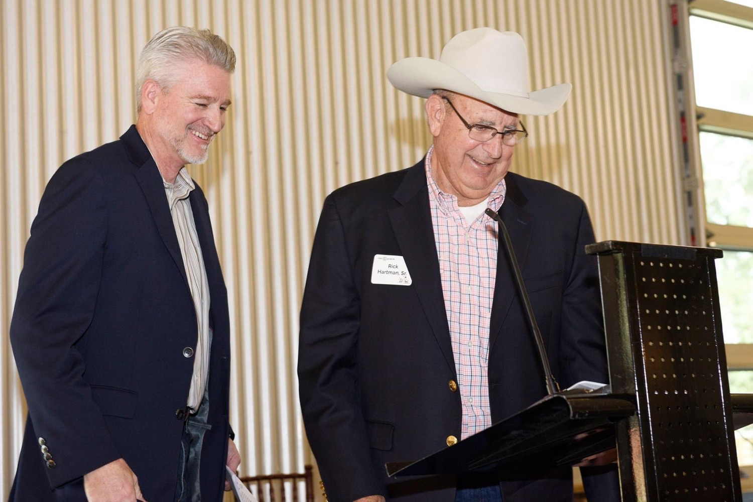 One Martin Board of Directors and sponsors Mitch Hutchcraft of King Ranch and Rick Hartman of Hartma