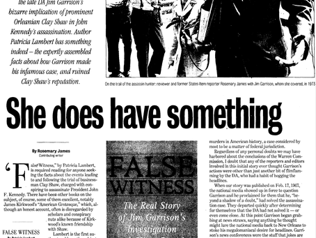 Rosemary James Reviews Patricia Lambert's False Witness