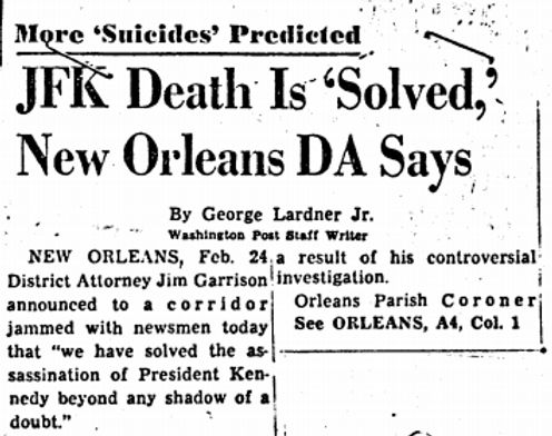 20. Headline JFK Death is Solved.png