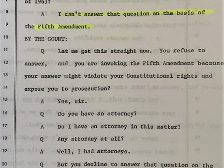 Why Did Perry Russo Plead The Fifth?