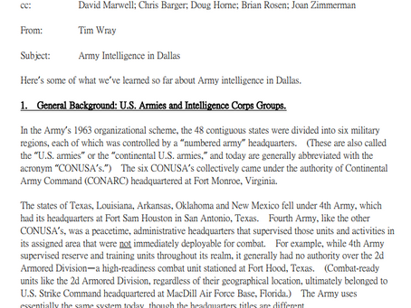 Fletcher Prouty and Army Intelligence in Dallas