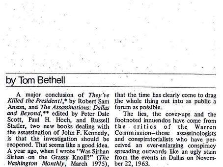 """""""Earl Warren: On the Mob's Payroll"""" by Tom Bethell"""
