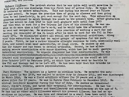 Garrison's Psychiatric Report
