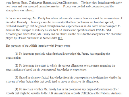 L. Fletcher Prouty Talks to the ARRB