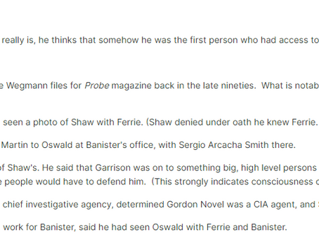 Did Vernon Gerdes See Oswald with Ferrie and Banister?
