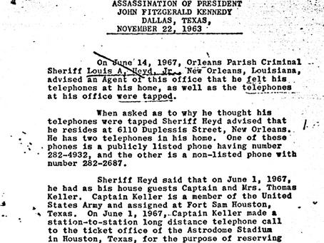 Did Jim Garrison Tap Sheriff Louis Heyd's Phone?