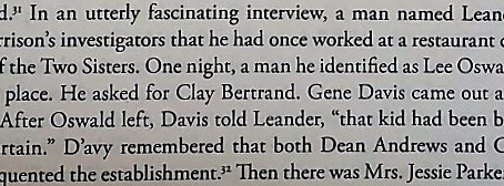 Did Leander D'avy see Oswald with the Three Tramps?