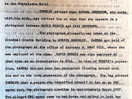 Did Sandra Anderson Have a Photograph of Clay Shaw with David Ferrie?