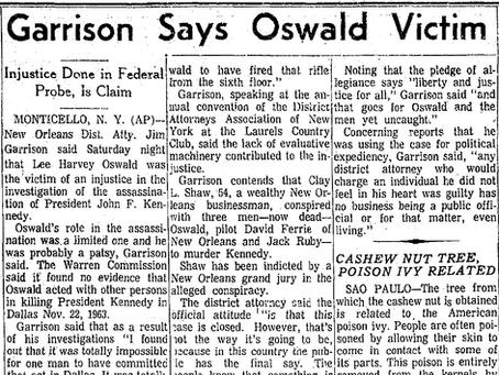 Jim Garrison Claims Lee Harvey Oswald was a Victim