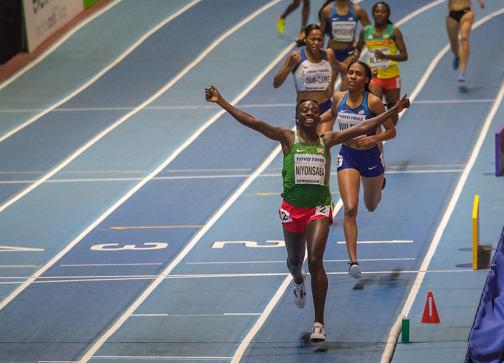 Francine taking her 2nd World Indoor title over 800m
