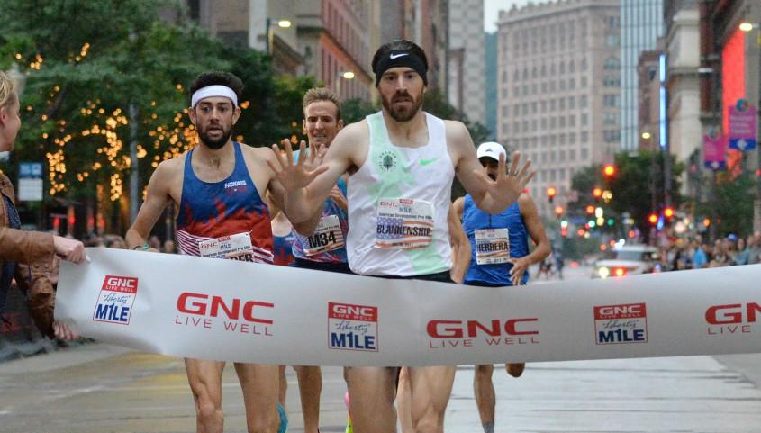 Ben winning the Liberty Mile last year (2017)