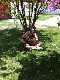 Ñoqui Boxer y Giannina Stagno año 2010.j