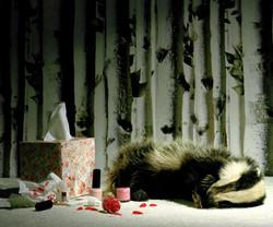 Pink Nails and Badger