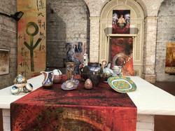 Installatie van Toos van Holstein samen met Giampietro Rampini in Gubbio